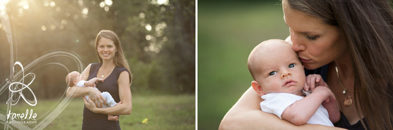 outdoor Houston memorial newborn photography Antablin family
