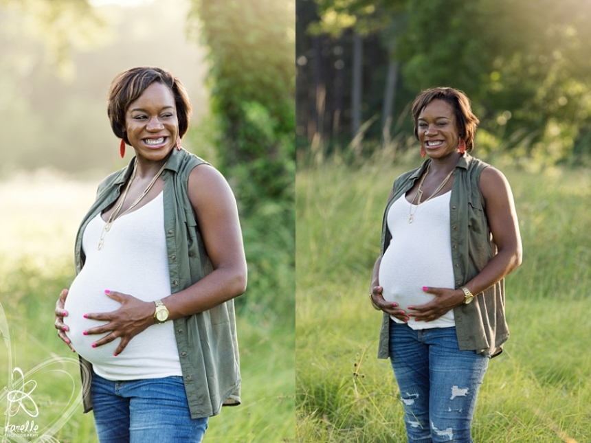 spring tx maternity photography